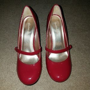 Red baby doll heels